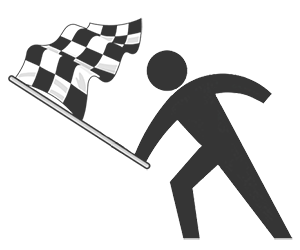 Chequered Flag and Race Car